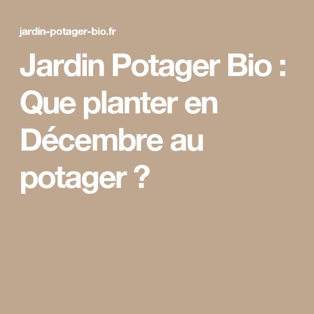 Que planter en Décembre au potager ?   Que planter en ...