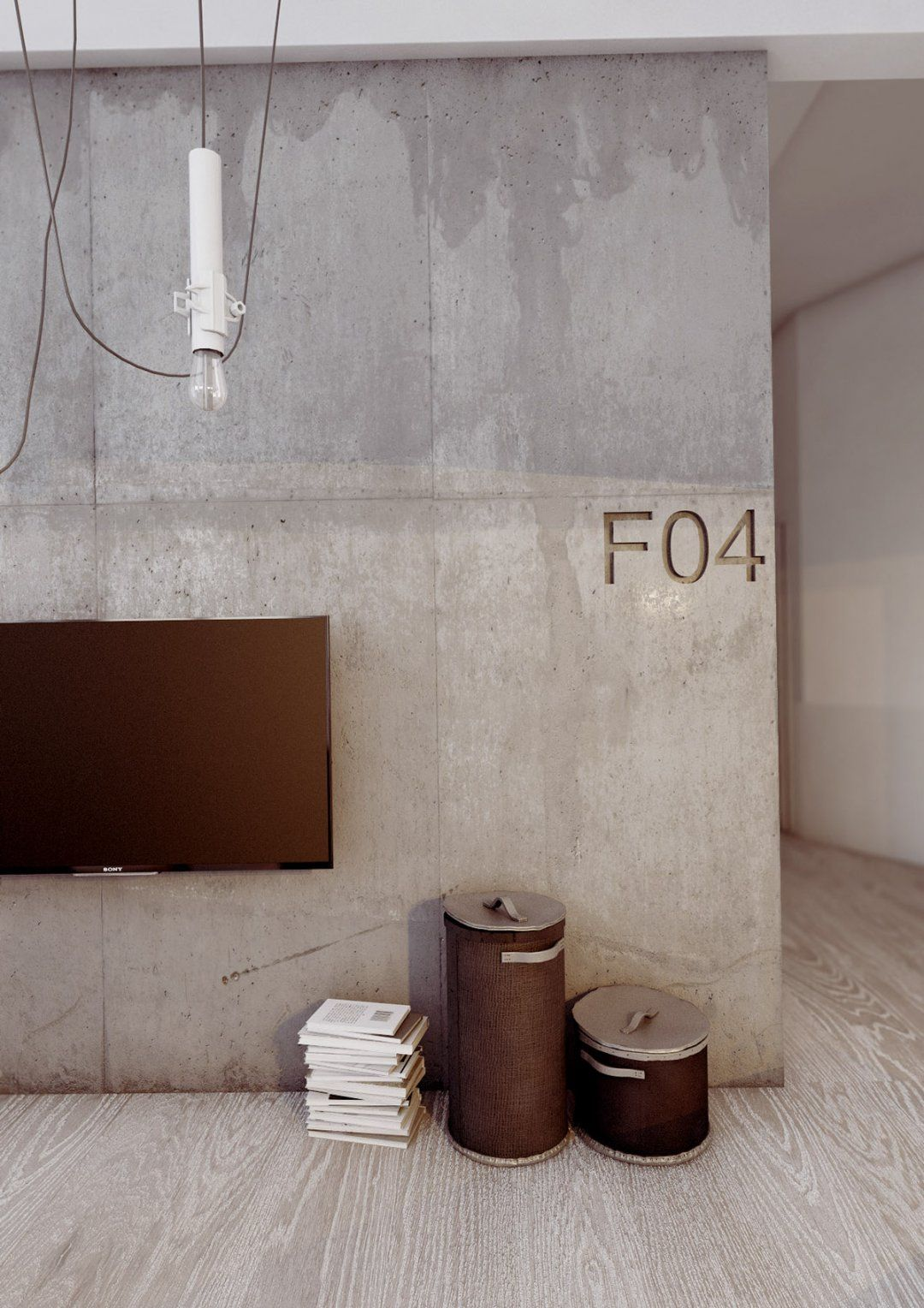 Image Result For How To Paint A Wall To Look Like Concrete Faux Concrete Wall Interior Wall Design Accent Wall