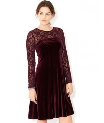 Fiorenza Flock Sleeve Fit & Flare Dress | Purple | Monsoon - Earn 5% when you shop or share on haveyouseen.com!