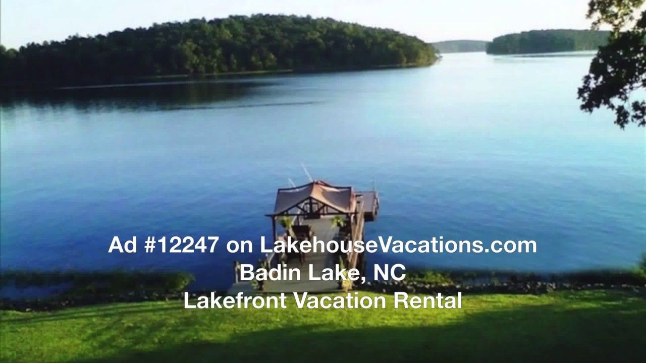 Badin lake nc lakefront vacation rental ad 12247 lake