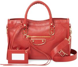 917e284e6e Classic Metallic Edge City Small Leather Satchel by Balenciaga at Gilt