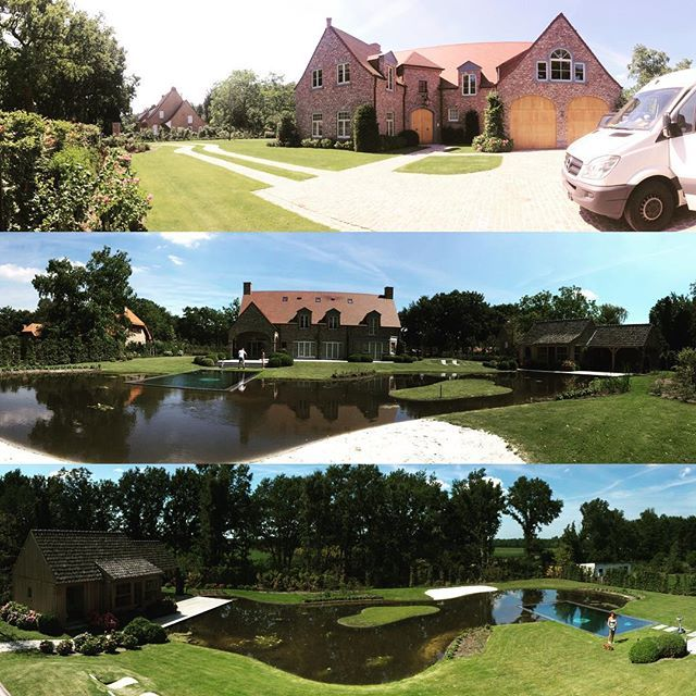 Building a house! #house #garden #landscape #panorama #myplace #pond #swimmingpool