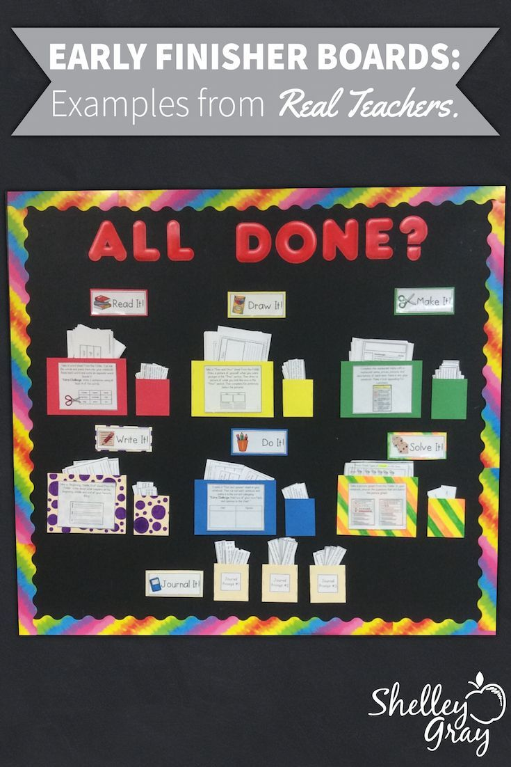 I love to see Early Finisher Board examples from teachers around the ...