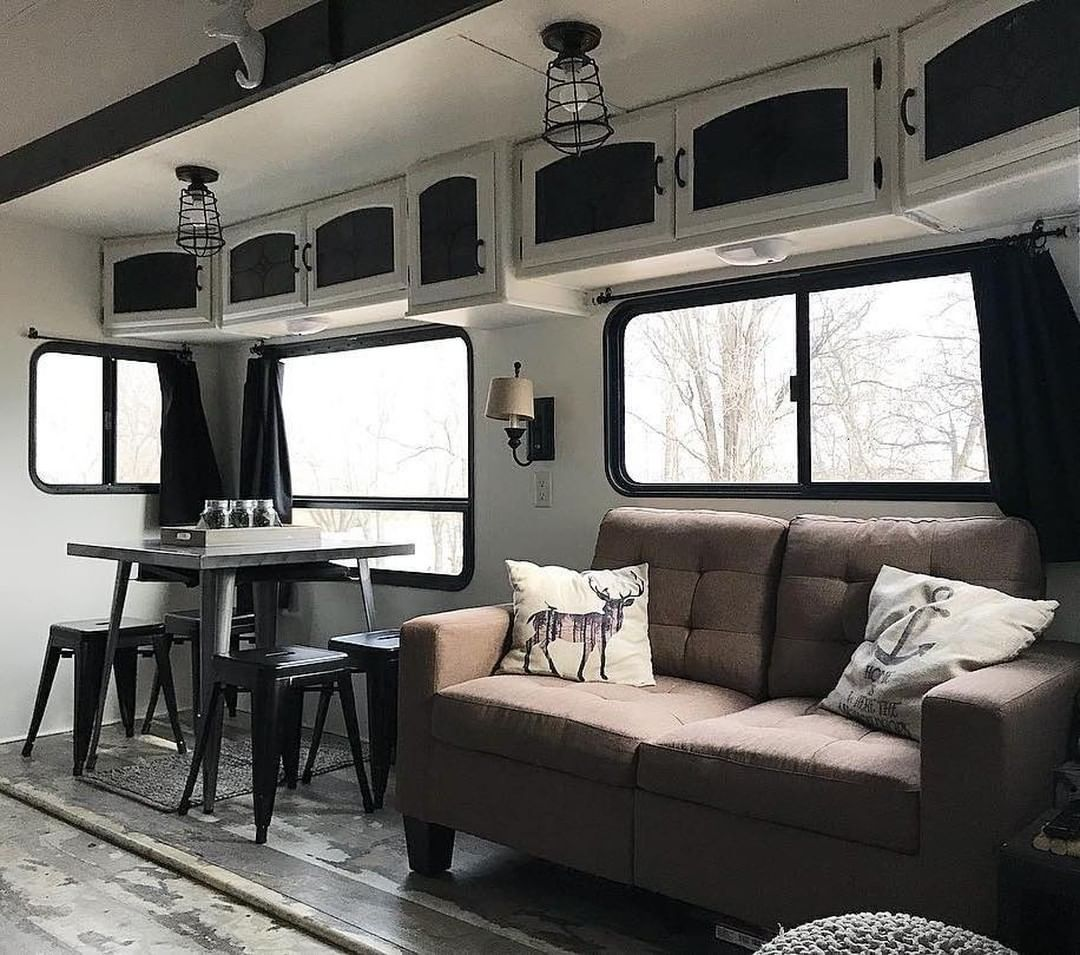 Loving The Rusticindustrial Feel Of This Rv Makeover Check Out