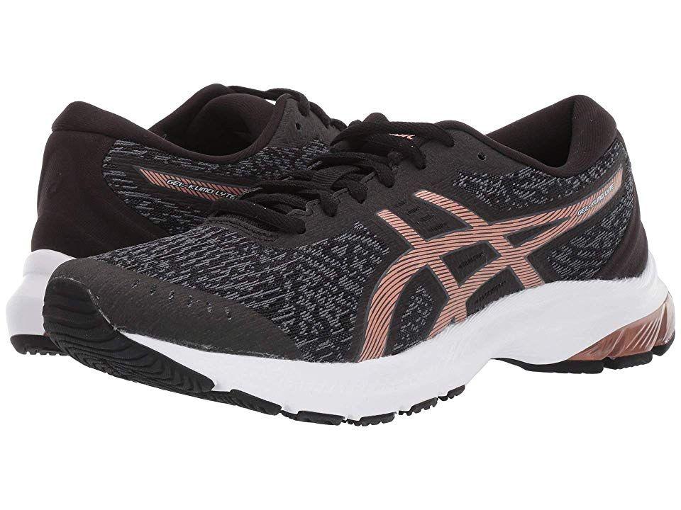 Asics Gel Kumo R Lyte Women S Running Shoes Black Rose Gold Asics Black Running Shoes Shoe Size Conversion
