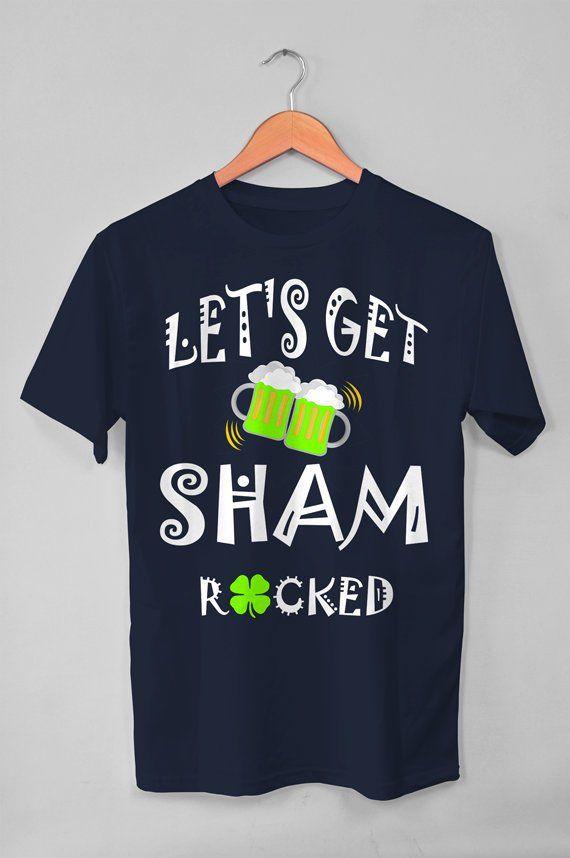5f5587c0e Shamrock Shirt, Let's Get Shamrocked Shirt, Shamrock t shirt, Irish Shirt, Drinking  Shirt, St Pattys