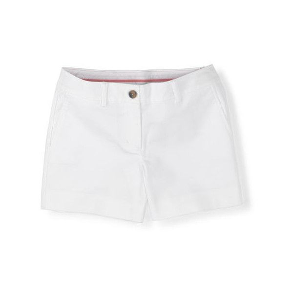 Boden Bistro Short ($27) ❤ liked on Polyvore featuring shorts, white, white short shorts, boden, short shorts and white shorts