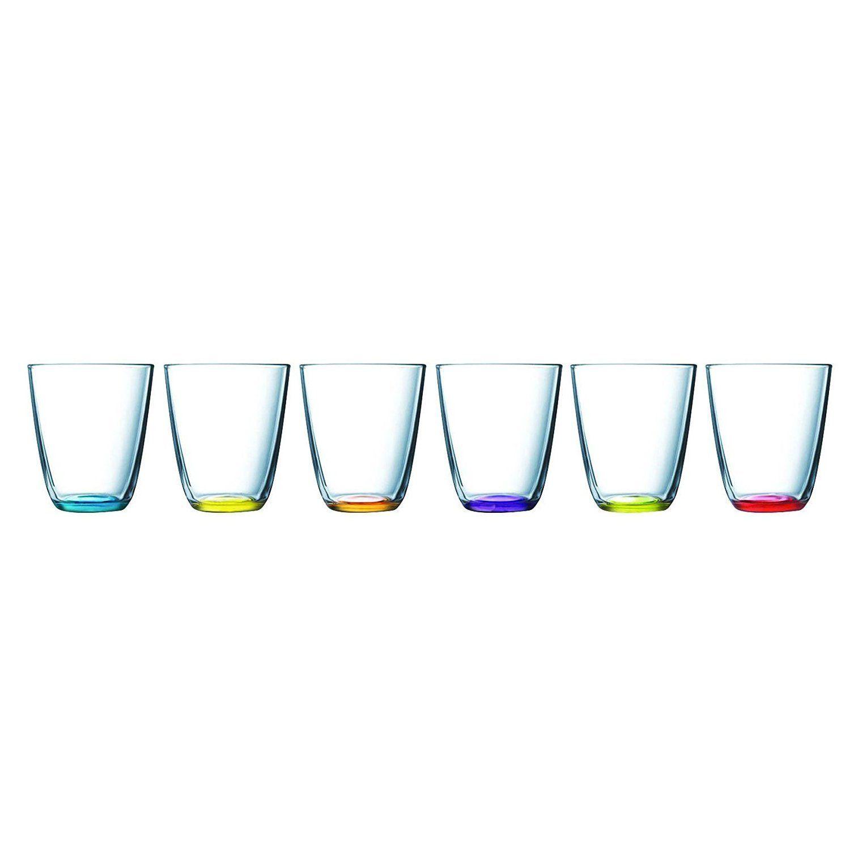 Wassergläser luminarc colors set wassergläser 6 stück gläser trinkgläser