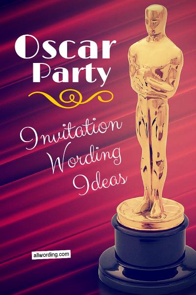 oscar party invitation wording all allwording pinterest party
