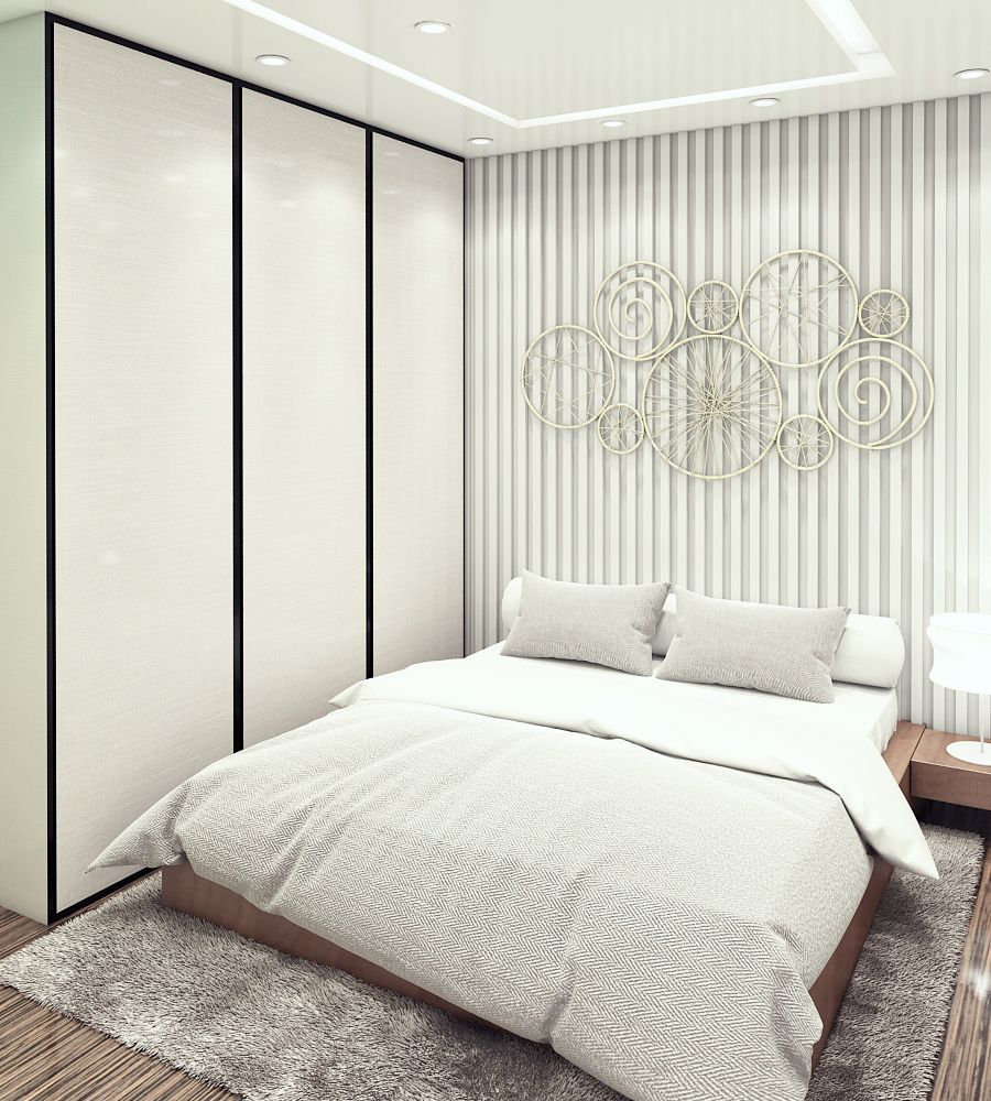 Master bedroom with 2 beds  The Decoist  Modern Master Bedroom   The Decoist  Pinterest