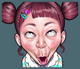 Koleksi Wajah Wajah Lucu Stiker Line Line Store Lucu Komik Lucu Lukisan Wajah
