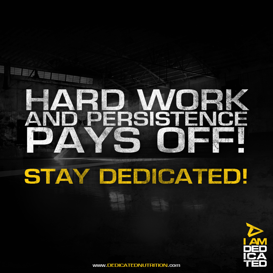Persistence Pays Off Motivational Quotes: Hard Work And Persistence Pays Off! Stay Dedicated