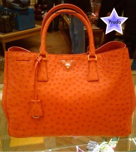 Prada Ostrich Bag Orange