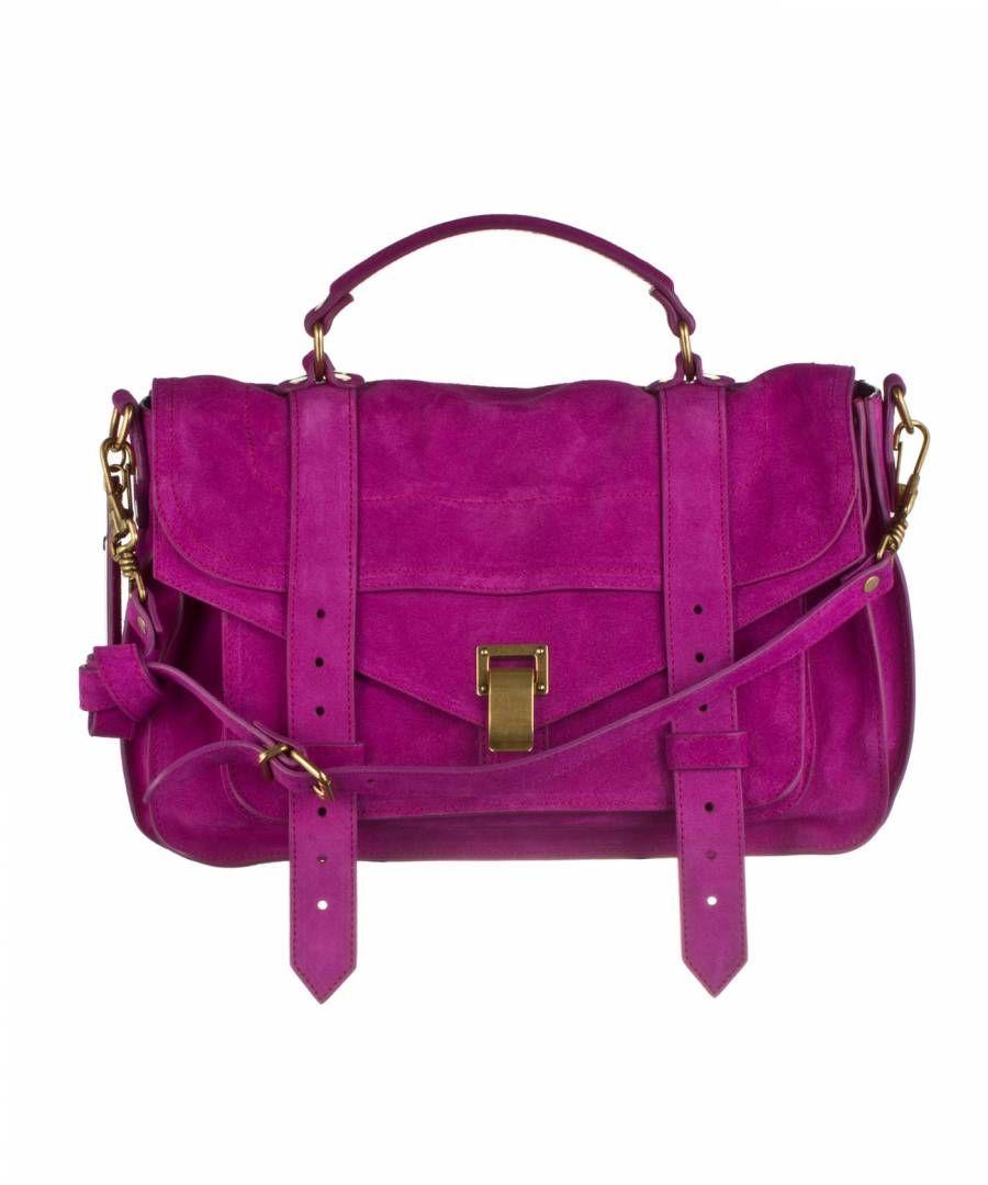 a92f5f58171a8 Proenza Schouler PS1 Medium Suede Grape Ps1 Bag