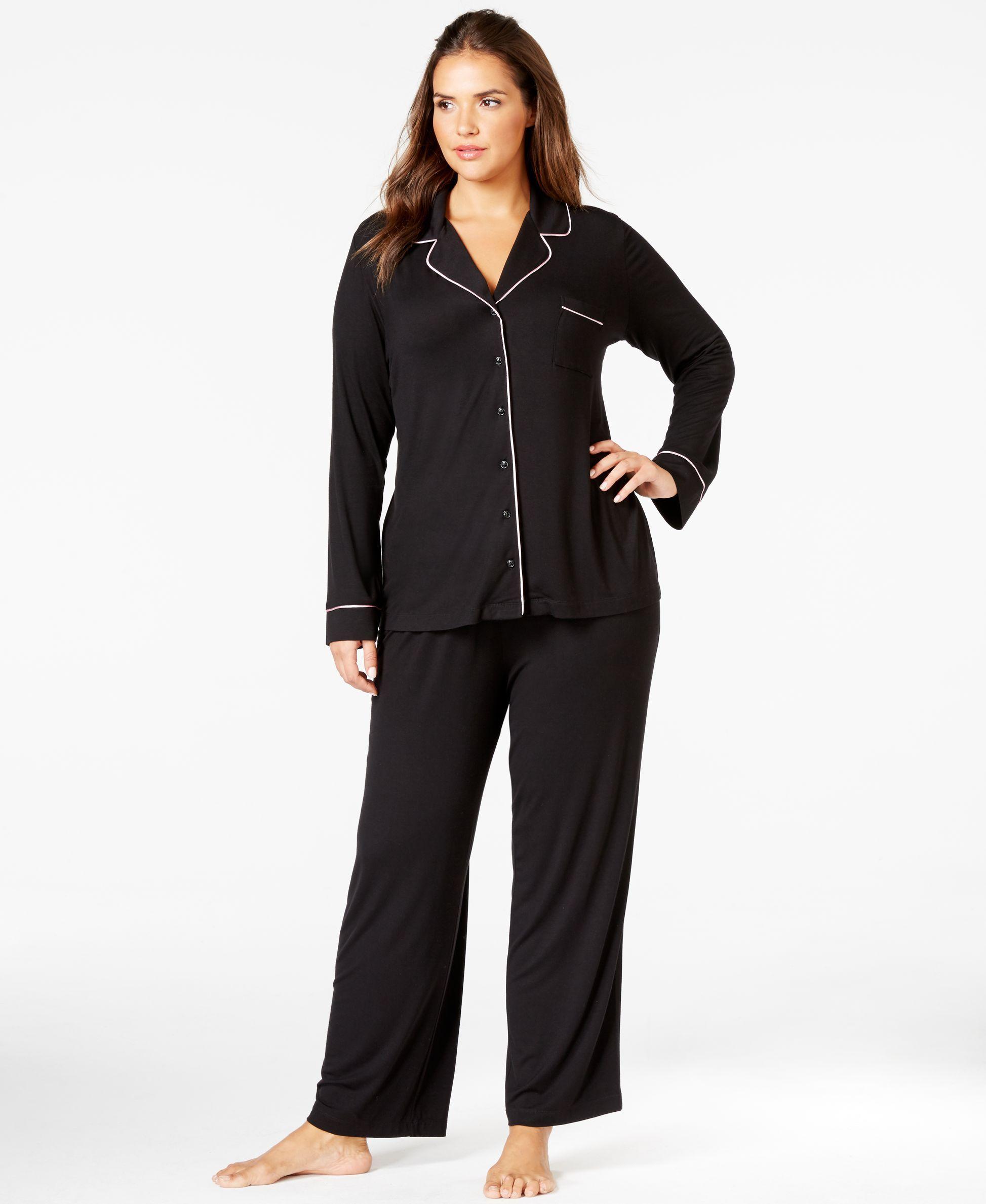 Alfani Plus Size Top and Pajama Pants Set