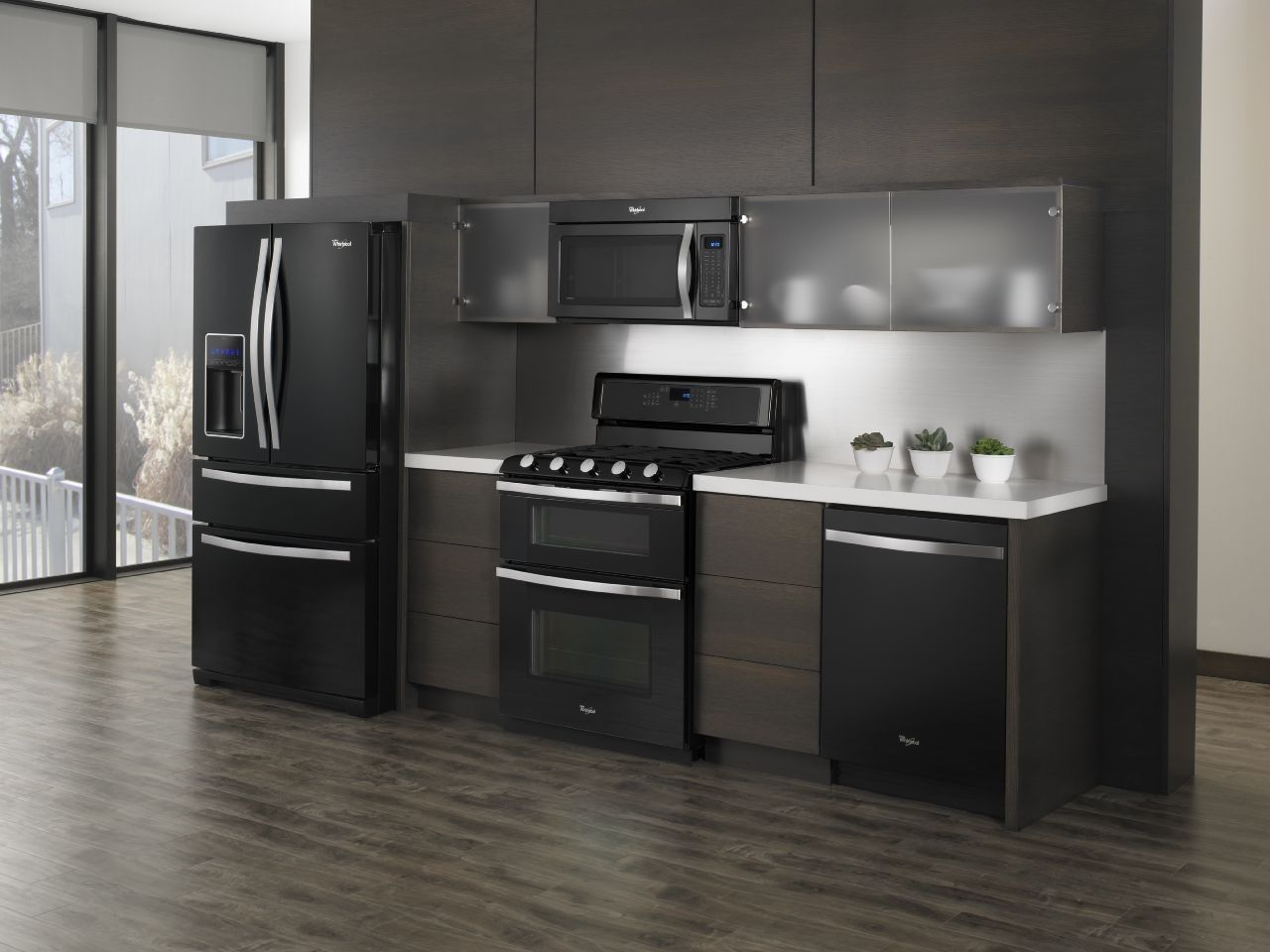 The WhirlpoolR Black Ice Kitchen Suite Elevates Design And Sophistication Of Home Appliances To Dramatic Beauty Refined Style Making