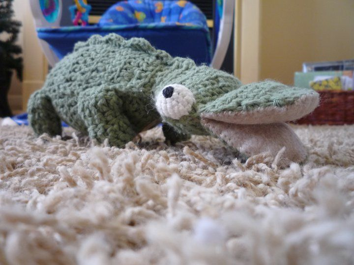 cocodrile  handmade in cotton. By Rocío L. Kater