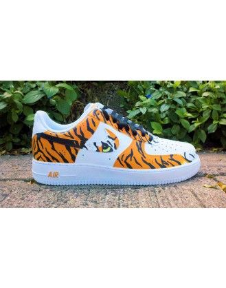 """""""Siberian Tiger"""" Custom Air Force One #Designer_boutique #designer_fashion #fashion_designer #Fashion #Boutique #Boutiques #Online_shopping"""