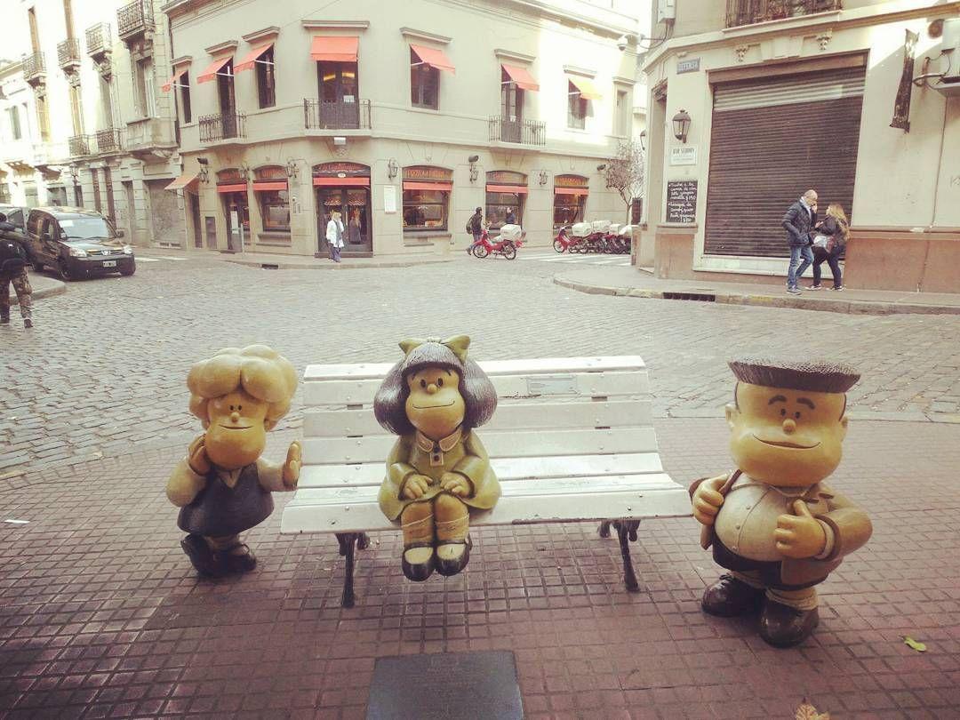 Mafalda y San Telmo  #mafalda #santelmo #paseodelahistorieta #turismo #buenosaires #부에노스아이레스 #아르헨티나 by wintercamy