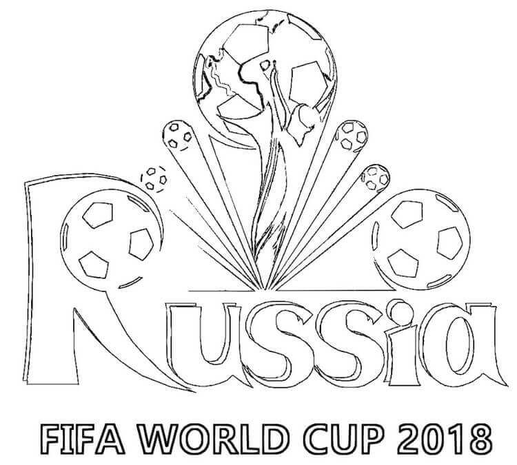 Fifa World Cup Russia 2018 Coloring Page Sports Coloring Pages World Cup Football Coloring Pages