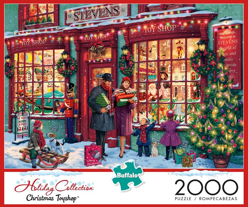 Christmas Jigsaw Puzzles.Christmas Toyshop 2000 Piece Jigsaw Puzzle 2 000 Piece