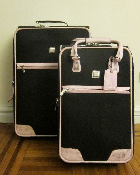 Diane von Furstenberg Pink/Black Lizard Luggage — | Travel with ...