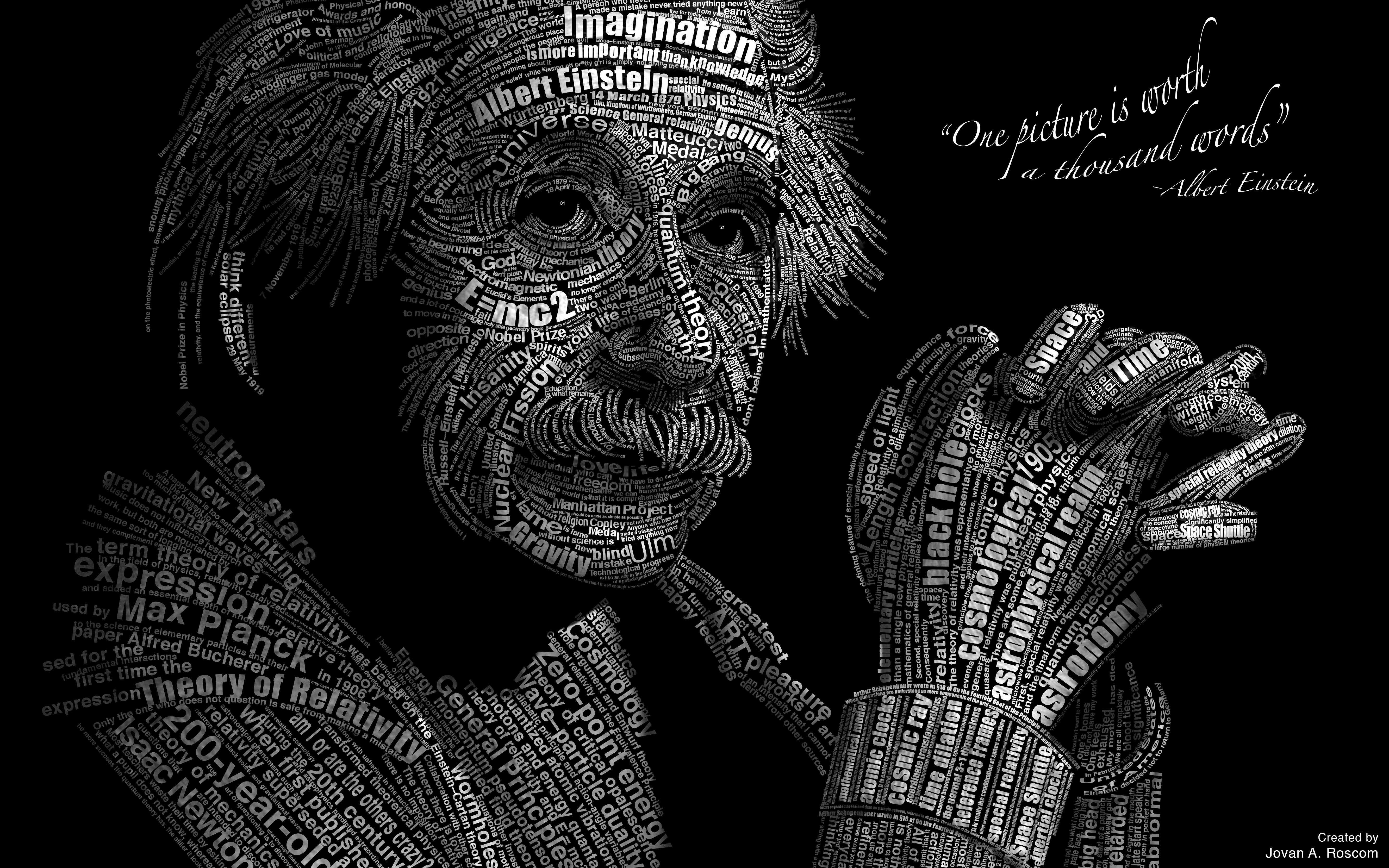 Albert Einstein Famous Equations Collection Picture