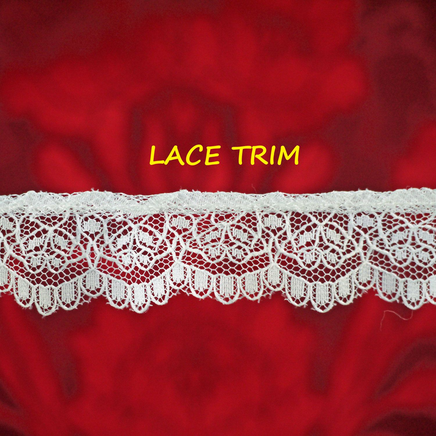 2 inch wide raspberry   lace trim selling by the yard