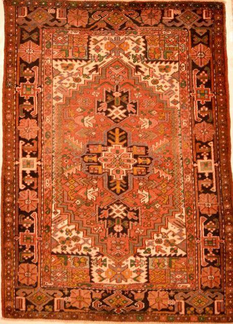 Handwoven Semi Antique Persian Heriz Rug Persian Heriz Rug Heriz Rugs Rugs