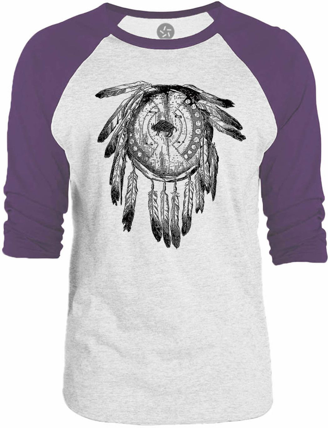 Big Texas American Indian Shield 3/4-Sleeve Raglan Baseball T-Shirt