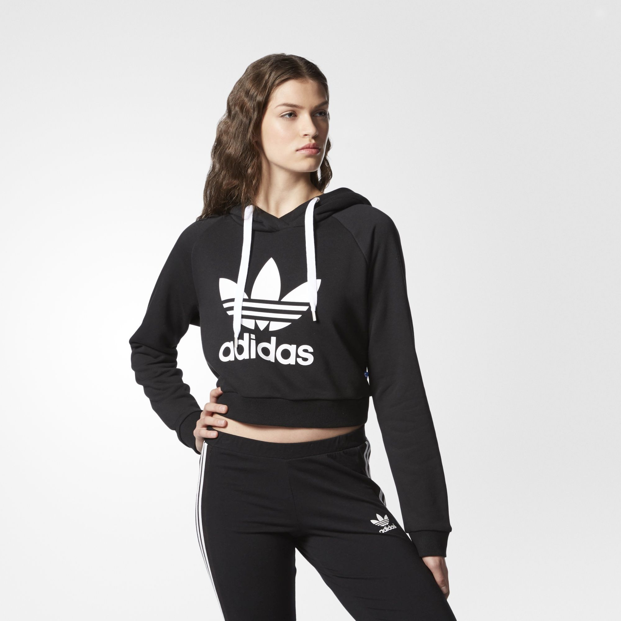 Black Shoes and Apparel | adidas US. Crop Top ...