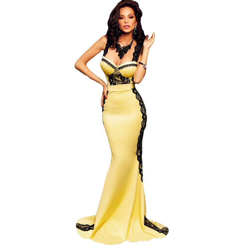 FGirl Ukraine Office Dress Party Dresses for Women Yellow and ...