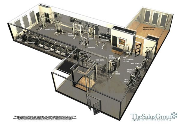 Corporate workout center design google search for Fitness center floor plan