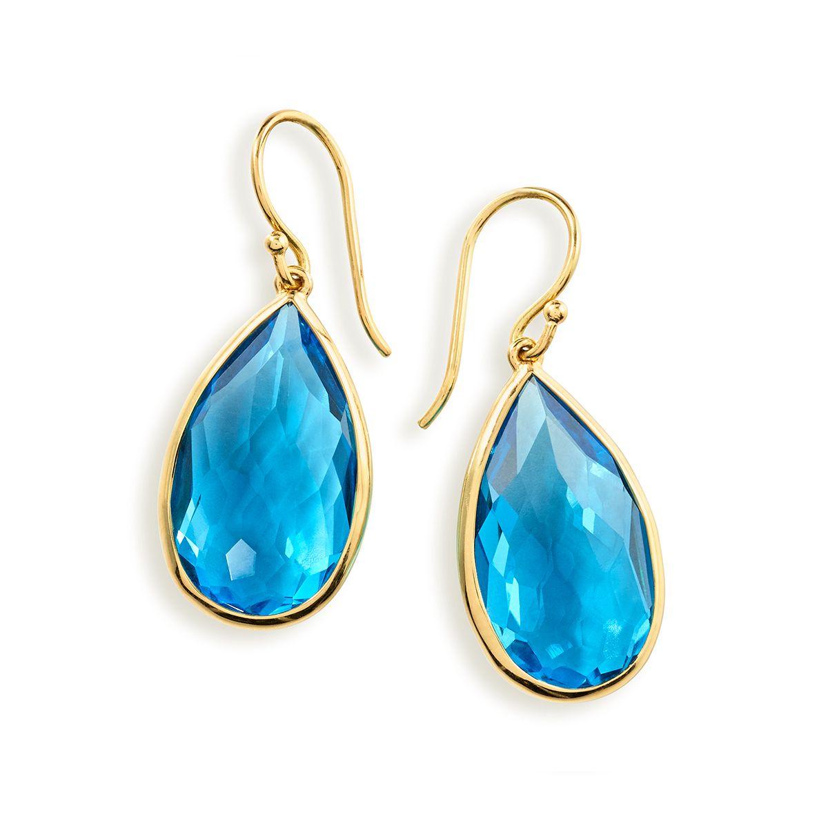 62734c6aa IPPOLITA ROCK CANDY® TEARDROP EARRINGS IN 18K GOLD (COLOR: BLUE TOPAZ)  BY IPPOLITA. #ippolita #