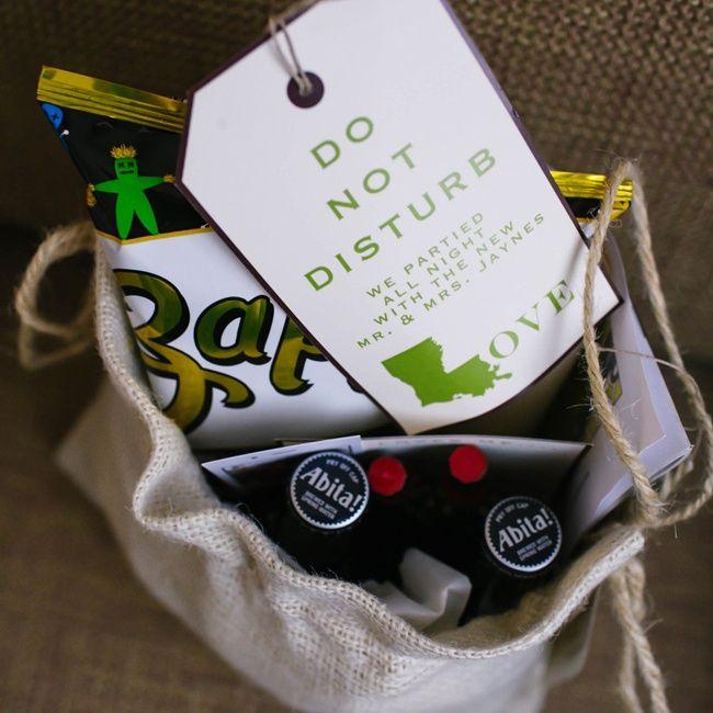 Do You Buy A Gift For A Destination Wedding: Louisiana Themed Welcome Bags