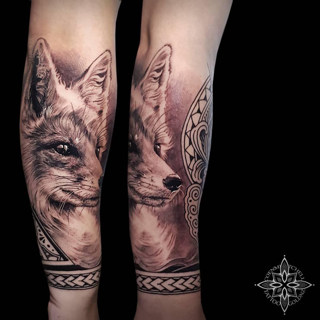 Realism Fox Face I Did Back In Texas Part Of A Full Forearm Fox Foxtattoo Tattoo Animaltattoo Realism Art Reali Realism Tattoo Fox Face Forearm Tattoo