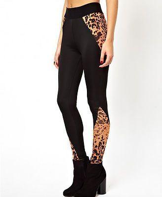 MML Leopard Print Patchwork Leggings