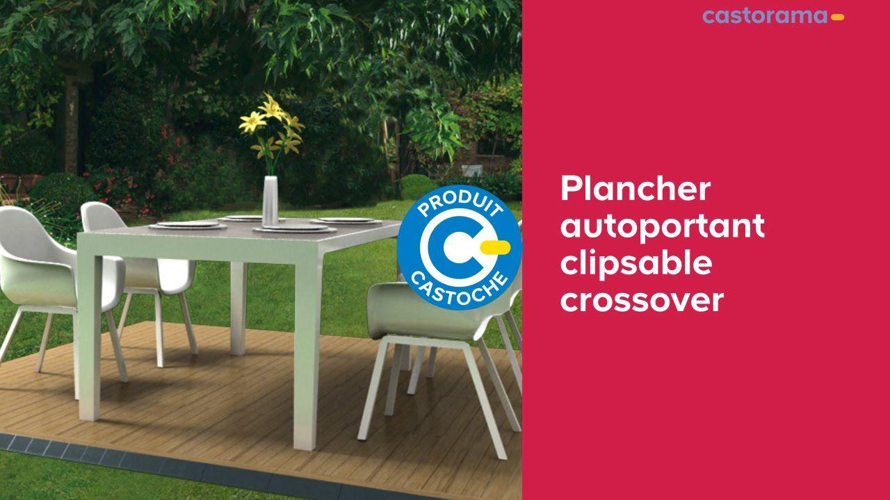Plancher Autoportant Clipsable Crossover 666461 Castorama Youtube Castorama Plancher Idees Jardin