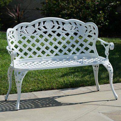 Astoria Grand Crowe Lattice Metal Garden Bench Em 2020 Artes Em