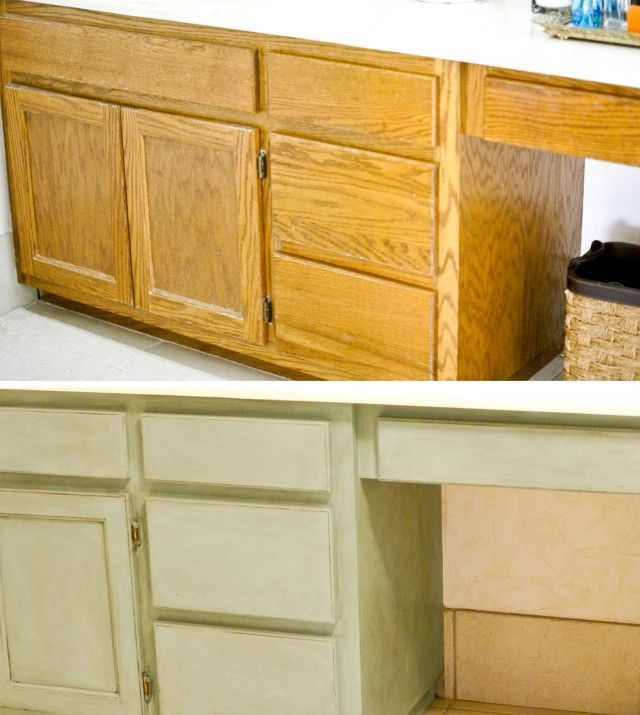 Painting Kitchen Cabinets Before And After. Beautiful White Kitchen ...