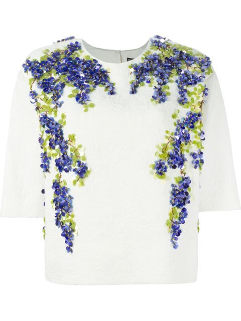 Dolce & Gabbana Wisteria Embellished Brocade Top - Julian Fashion - Farfetch.com