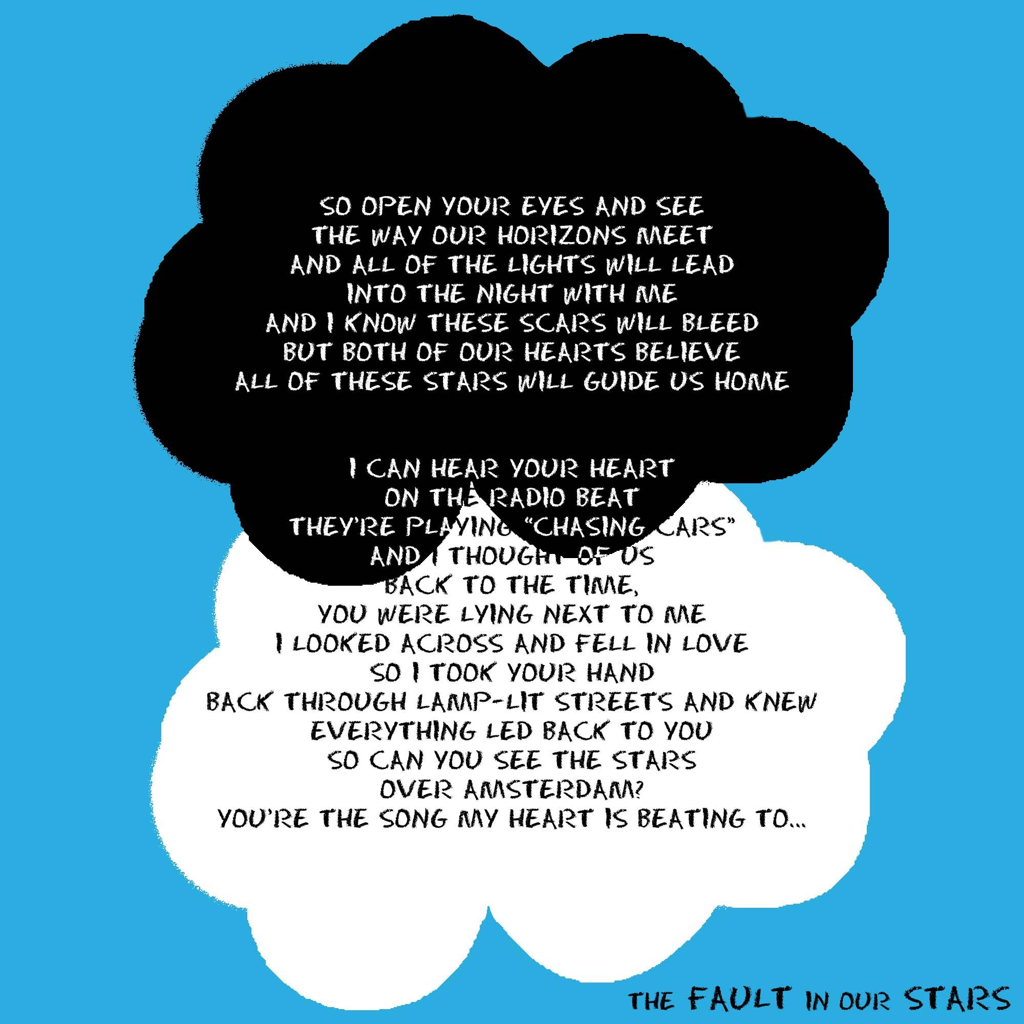 The Fault In Our Stars Ed Sheeran All Of The Stars Lyrics One