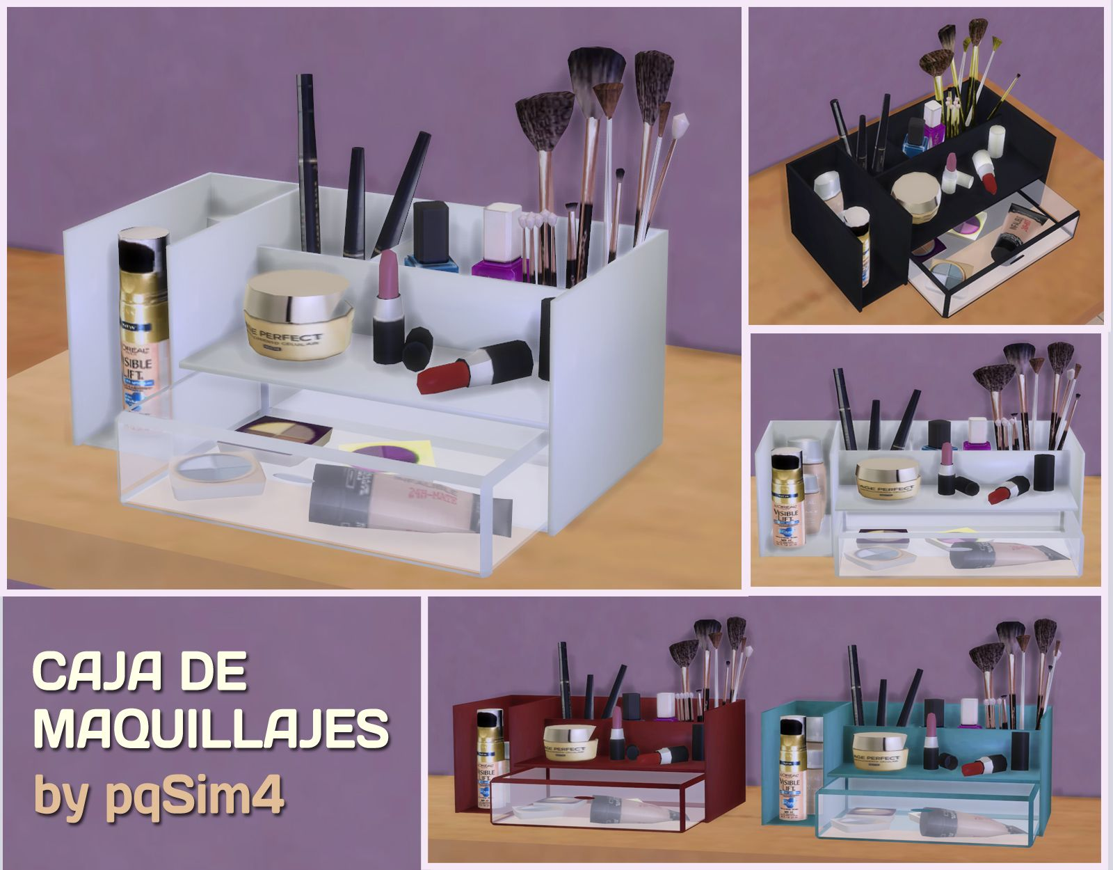 My Sims 4 Blog Makeup Box by pqsim4 Sims 4 bedroom