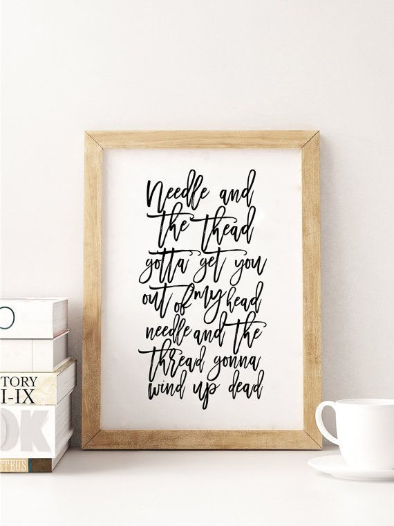 PRINTABLE ArtSHAWN MEDES QuoteSong LyricsQuote by TypoHouse