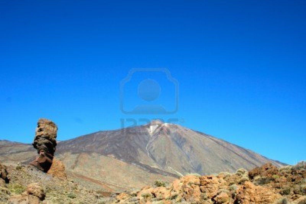 Gods finger  with Teide  Stock Photo