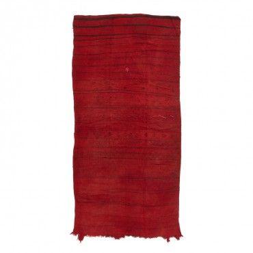 "Moroccan Flatweave Wool Rug - 5'7""x11'2"""