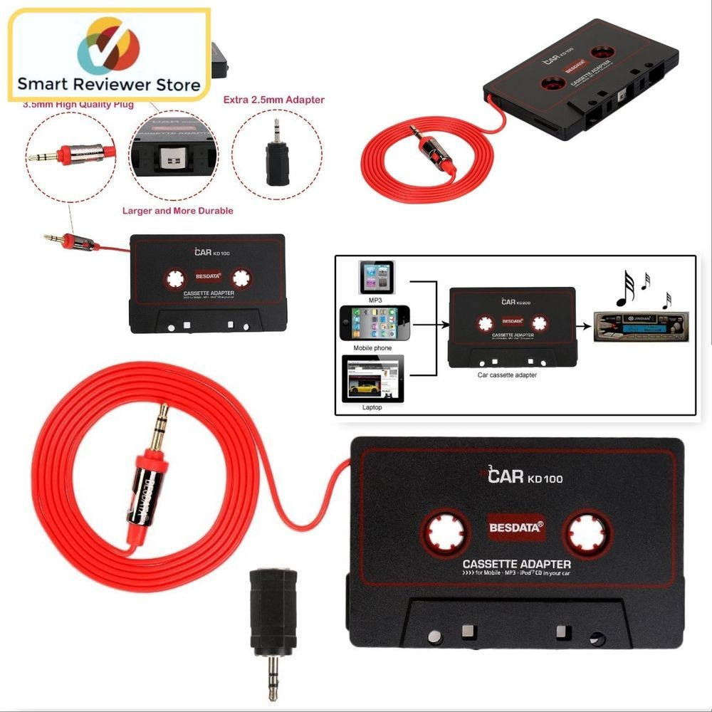 car audio cassette tape adapter loud sound audio aux cable stereo 3.5Mm to 3.5Mm Adapter car audio cassette tape adapter loud sound audio aux cable stereo converter besdata