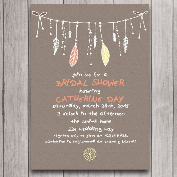 Tribal Boho Bridal Shower Invitation Digital Download ...
