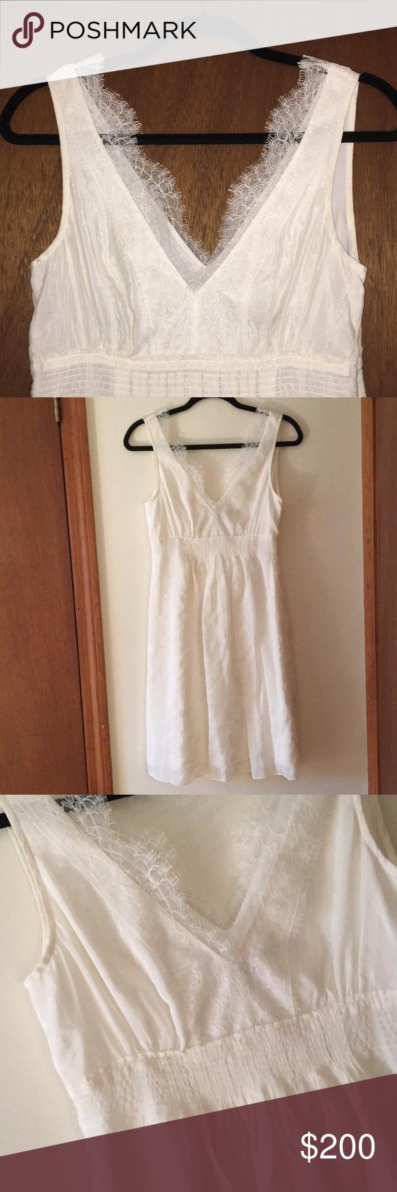 Lace dress nightwear  OffWhite Dress with Lace  My Posh Closet  Pinterest  Lace Dress