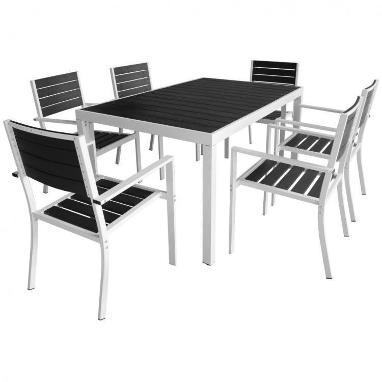 Fabulous Patio Dining Table Set 7Pcs Garden Aluminium Chairs 6 Seater Home Remodeling Inspirations Propsscottssportslandcom